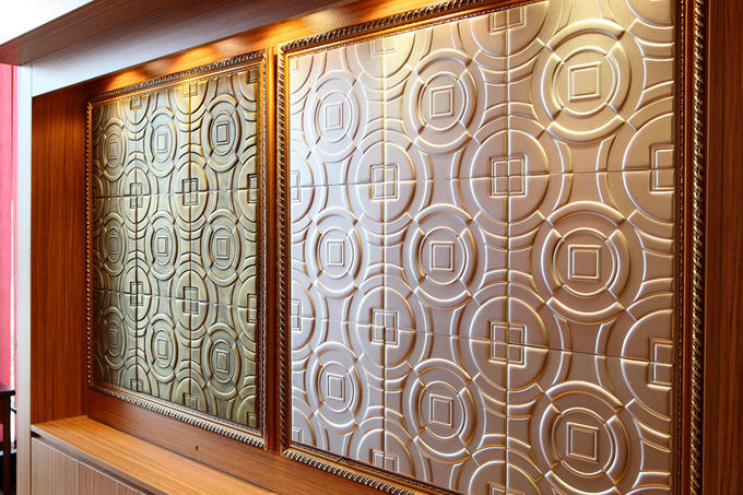 Customized Hard Fiberboard Easy Maintenance For Wall Background Decoration
